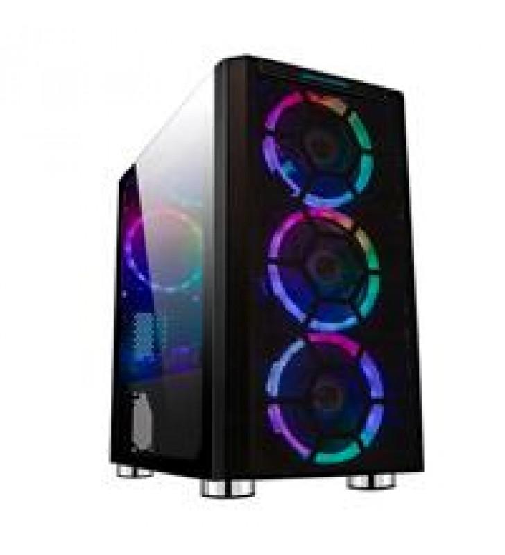 GABINETE GAMER BALAM RUSH/ACTECK/ MINITORRE/ MICRO-ATX/MINI-ITX/ ARGB /USB 3.0/PANEL CRISTAL TEMPLAD