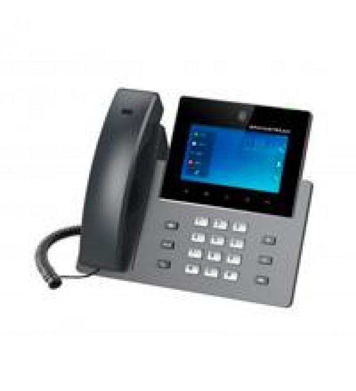TELEFONO IP ANDROID DE VIDEOCONFERENCIA GIGABIT CON 16 CUENTAS SIP PANTALLA TACTIL CAPACITIVA 5 PULG