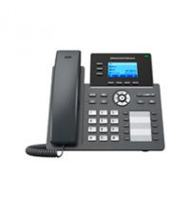 TELEFONO IP 2 PUERTOS DE RED GIGABIT PANTALLA LCD RETROILUMINADA DE 132X64 10 TECLAS BLF CONFIGURABL