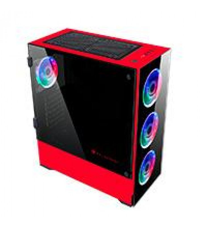 GABINETE GAMER BALAM RUSH-S-ACTECK/E-ATX/ATX/MICROATX/MINI ITX/ 4 VENTILADORES RGB/USB 3.0/CRISTAL T