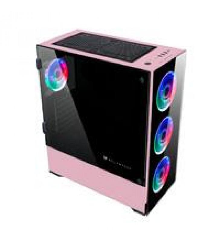 GABINETE GAMER E-ATX 4 VENT RGB 1*USB 3.0 CRISTAL TEMP BALAM RUSH-S THINOS GSX9000 ROSA BR-932288