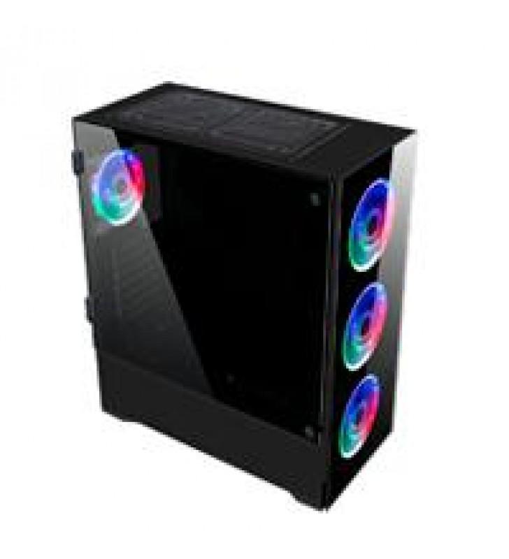 GABINETE GAMER E-ATX 4 VENT RGB 1*USB 3.0 CRISTAL TEMP BALAM RUSH-S THINOS GSX9000 NEGRO BR-932271