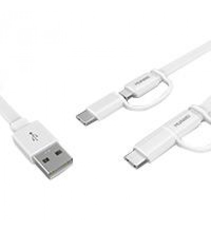 CABLE HUAWEI AP55S CABLE DE DATOS USD A MICRO USB TIPO C 1.5 MTS COLOR BLANCO