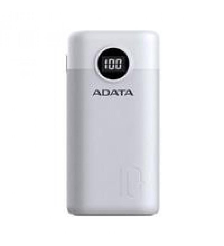 BATERIA DE RESPALDO POWER BANK ADATA P10000QCD 10000MAH/2 USB A/ 1 USB C/INDICADOR DE CARGA DIGITAL/