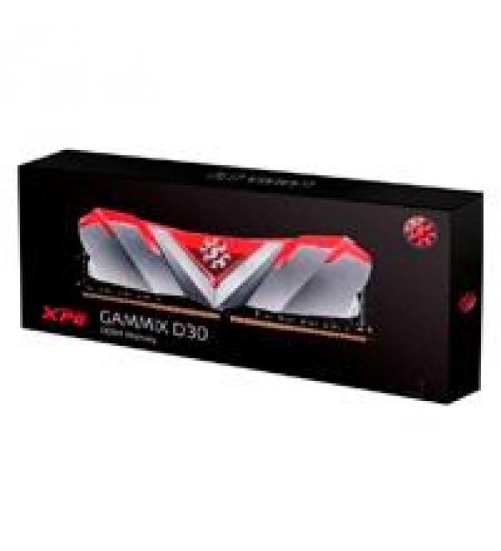 MEMORIA ADATA UDIMM DDR4 8GB PC4-25600 3200MHZ CL16 1.2V XPG GAMMIX D30 ROJO CON DISIPADOR PC/GAMER/