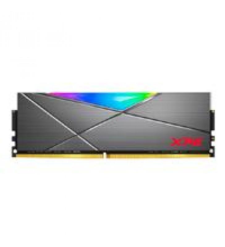 MEMORIA ADATA UDIMM DDR4 8GB PC4-28800 3600MHZ CL18 1.35V XPG SPECTRIX D50 RGB GRIS CON DISIPADOR PC
