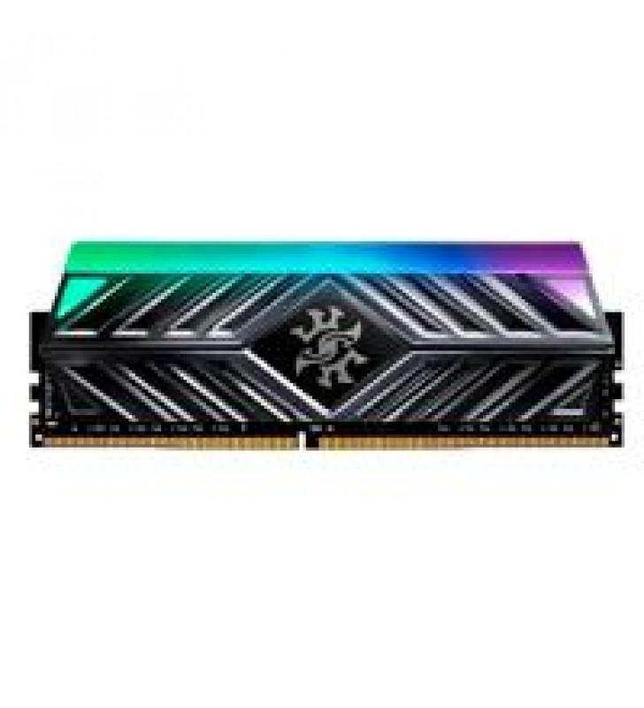 MEMORIA ADATA UDIMM DDR4 8GB PC4-25600 3200MHZ C16 1.2V XPG SPECTRIX D41 TUF RGB NEGRO CON DISIPADOR