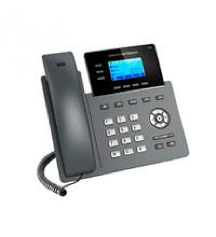TELEFONO IP 2 PUERTOS DE RED GIGABIT (10/100/1000) PANTALLA LCD RETROILUMINADA DE 132X64 GESTION Y A