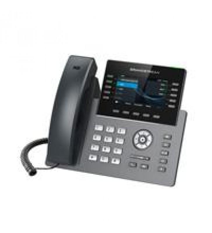 TELEFONO IP 10 LINEAS 16 CUENTAS SIP DOS PANTALLAS A COLOR VISTA FRONTAL INTERCAMBIABLE FIRMWARE DUA