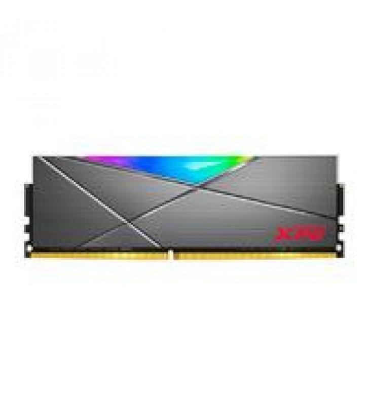 MEMORIA ADATA UDIMM DDR4 8GB PC4-24000 3000MHZ CL16 1.35V XPG SPECTRIX D50 RGB GRIS CON DISIPADOR PC