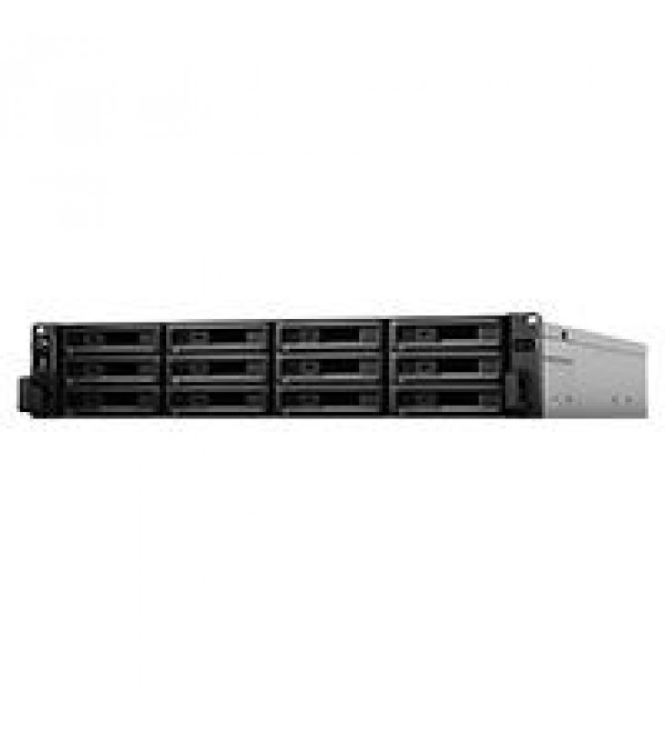NAS SYNOLOGY RS3621XS+/ 12 BAHIAS/OCHO NCLEOS 2.7 TURBO GHZ/8GB DDR4 ECC UDIMM/LAN GIGABITX4/USB 3.2
