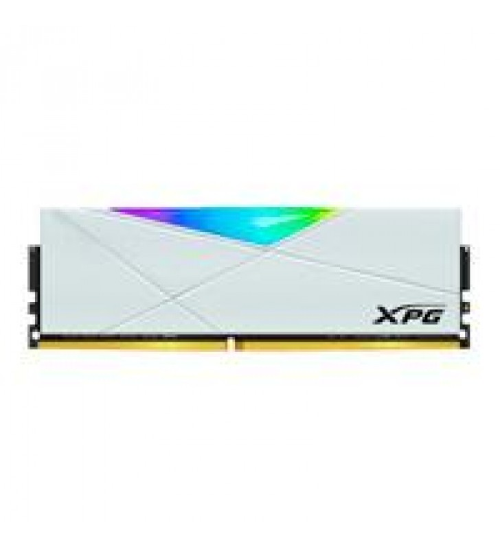 MEMORIA ADATA UDIMM DDR4 8GB PC4-25600 3200MHZ CL16 1.35V XPG SPECTRIX D50 RGB BLANCO CON DISIPADOR
