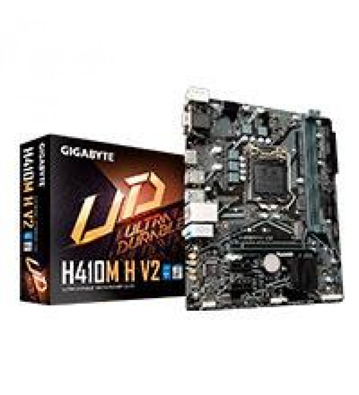 MB GIGABYTE H410 INTEL S-1200 10GEN/2XDDR4 2666MHZ/VGA/HDMI/4XUSB3.1/M.2/MICRO ATX/GAMA BASICA