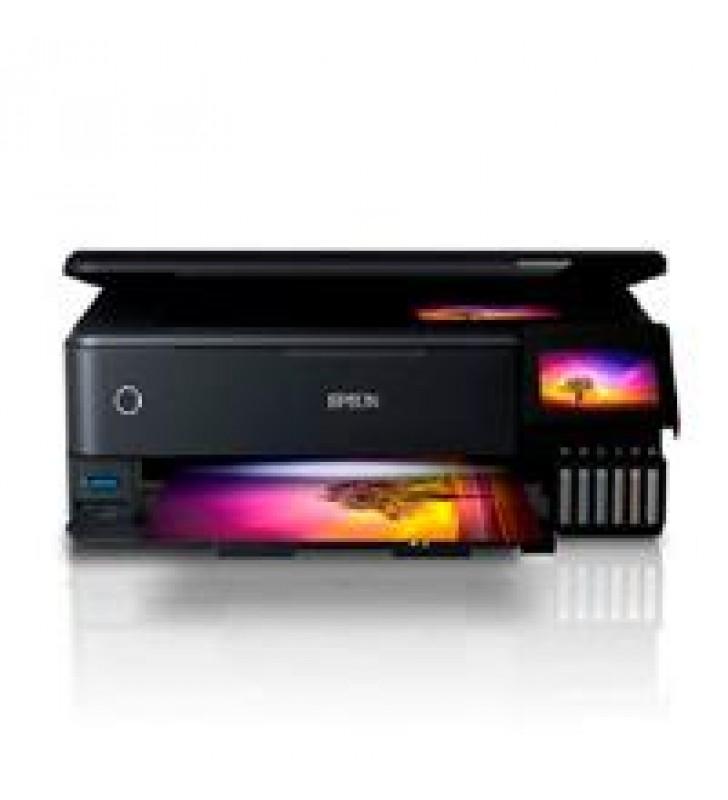MULTIFUNCIONAL EPSON L8180 PPM 32 NEGRO/32 COLOR TINTA CONTINUA ECOTANK USB RED WIFI CD/DVD FOTOGRAF