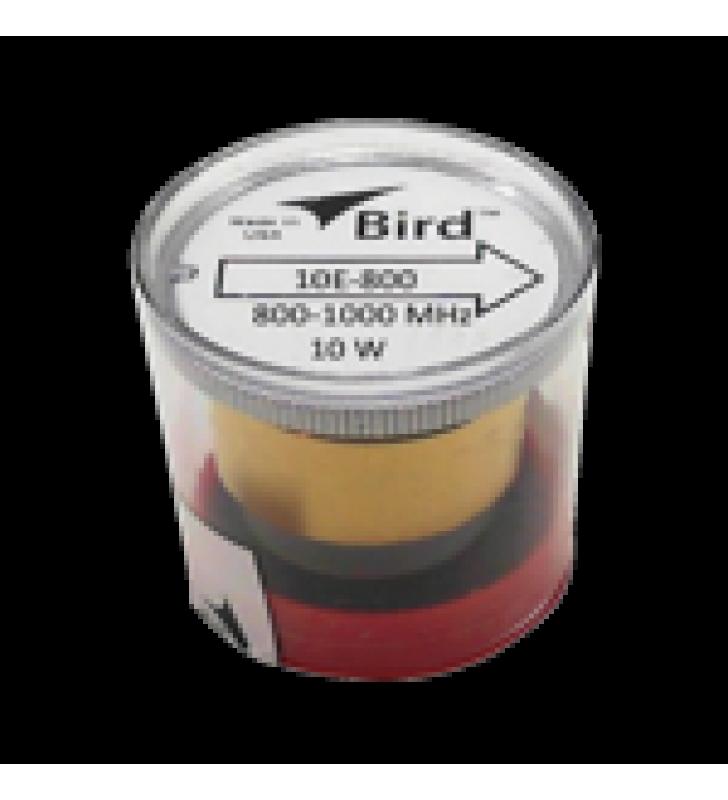 ELEMENTO DE 10 WATT EN LINEA 7/8 PARA WATTMETRO BIRD 43 EN RANGO DE FRECUENCIA DE 800 A 1000 MHZ.