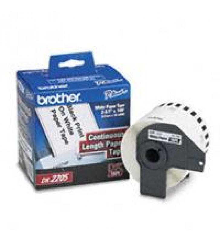 ETIQUETA CONTINUO BROTHER DK2205 BLANCA 62MM X 30.4 MTS COMPATIBLE CON QLS