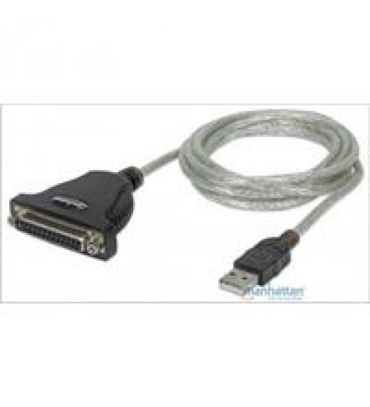 CABLE CONVERTIDOR MANHATTAN USB A PARALELO DB25 1.8M IMPRESORA