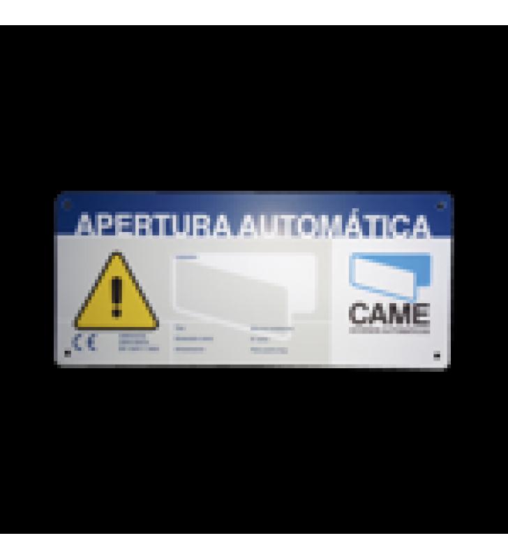 LETRERO DE AVISO PELIGRO PARA PUERTAS AUTOMATICAS CAME
