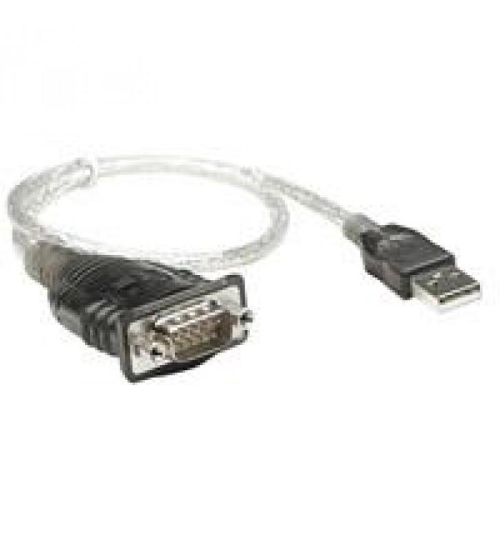 CABLE CONVERTIDOR MANHATTAN USB A SERIAL DB9 RS232 45CM M-M