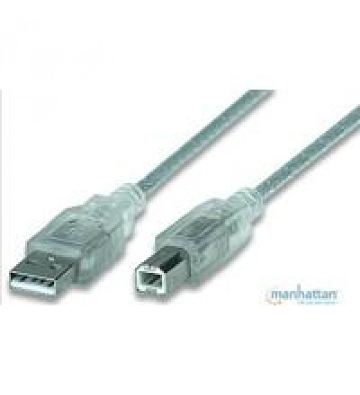 CABLE USB 2.0 MANHATTAN A-B DE 4.5 MTS PLATA