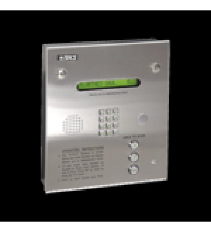 CONTROL DE ACCESO / GABINETE EMPOTRABLE / 2 PUERTAS / 3000 NUMEROS TELEFONICOS / 11 DIGITOS / DIRECTORIO EN PANTALLA / LINEAS A/D