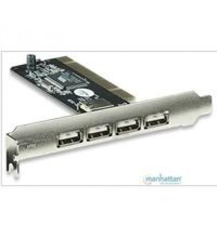 TARJETA USB MANHATTAN PCI VERSION 2.0 4 PUERTOS