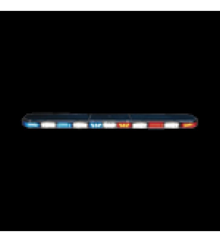 BARRA DE LUCES SERIE 21  ULTRA BRILLANTE CON 114 PODEROSOS LEDS ULTIMA GENERACION, COLOR ROJO/AZUL/AMBAR