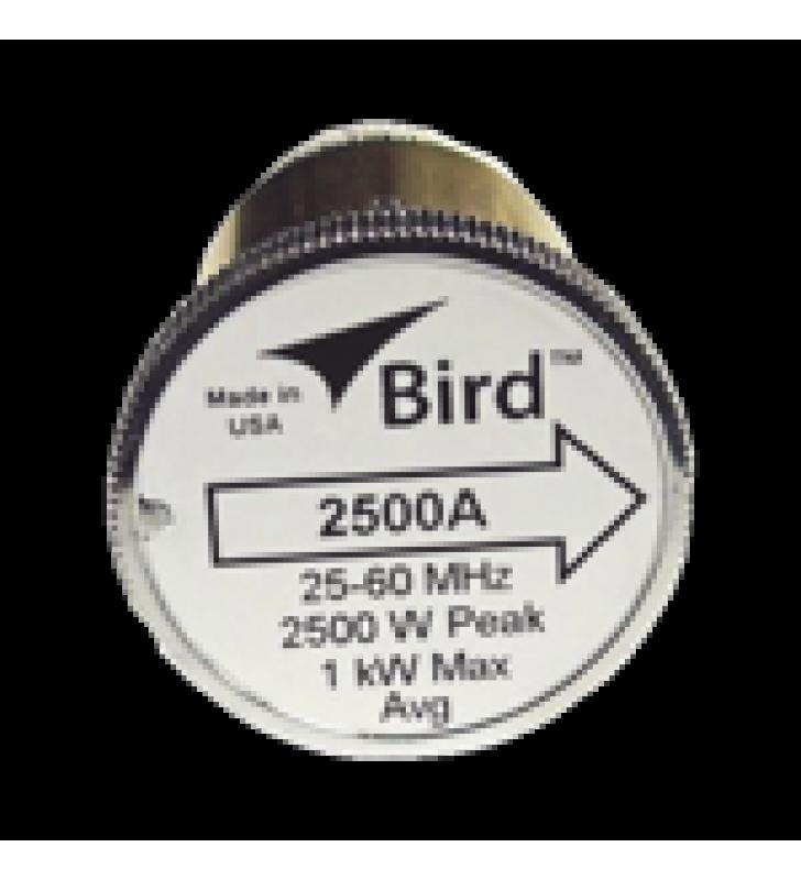 ELEMENTO DE 2500 WATT EN LINEA 7/8 PARA WATTMETRO BIRD 43 EN RANGO DE FRECUENCIA DE 25 A 60 MHZ