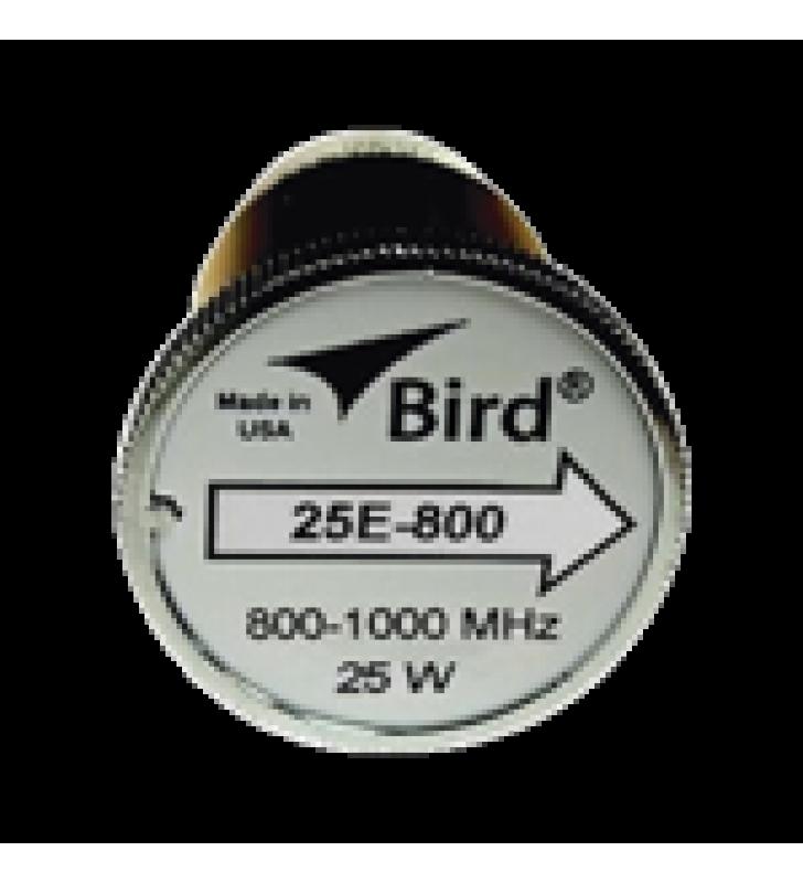 ELEMENTO DE 25 WATT EN LINEA 7/8 PARA WATTMETRO BIRD 43 EN RANGO DE FRECUENCIA DE 800 A 1000 MHZ.