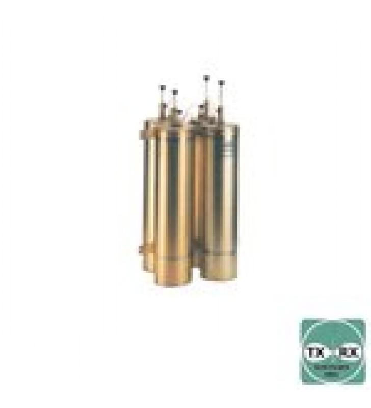 DUPLEXER PASA BANDA-RECHAZO DE BANDA, 144-174 MHZ, 4 CAVIDADES DE 6.625 DIAMETRO, 500 KHZ, 400 WATT, BNC HEMBRAS.