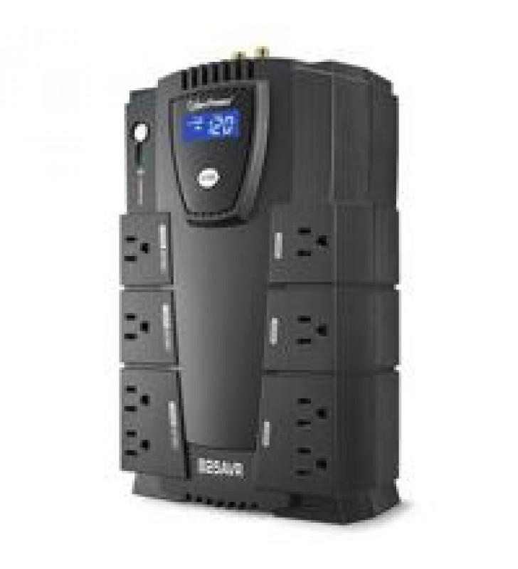 NO BREAK CYBERPOWER (CP825AVRLCD) 825VA/ 450 WATTS INTERACTIVO TORRE 8 ? NEMA 5-15R (4 RESPALDO Y 4
