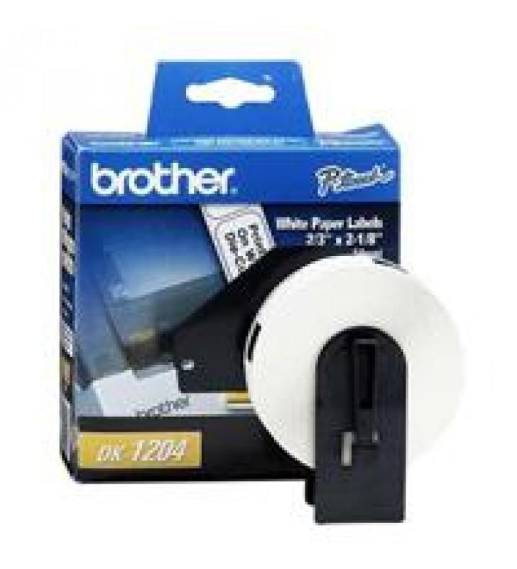ETIQUETA PRECORTADA BROTHER DK1204 BLANCA  400 ETIQUETAS 17 X 54.3 MM COMPATIBLE CON QLS