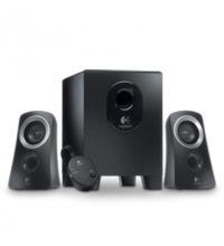 BOCINAS LOGITECH Z313 NEGRAS 2.1 25 WATTS RMS PC/MAC/MP3/IPOD/DVD
