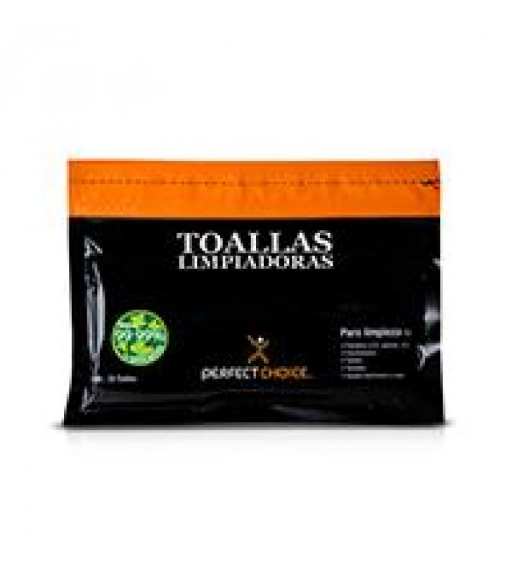 TOALLAS LIMPIADORAS PERFECT CHOICE ANTIESTETICAS PARA PANTALLAS CON 20 PIEZAS