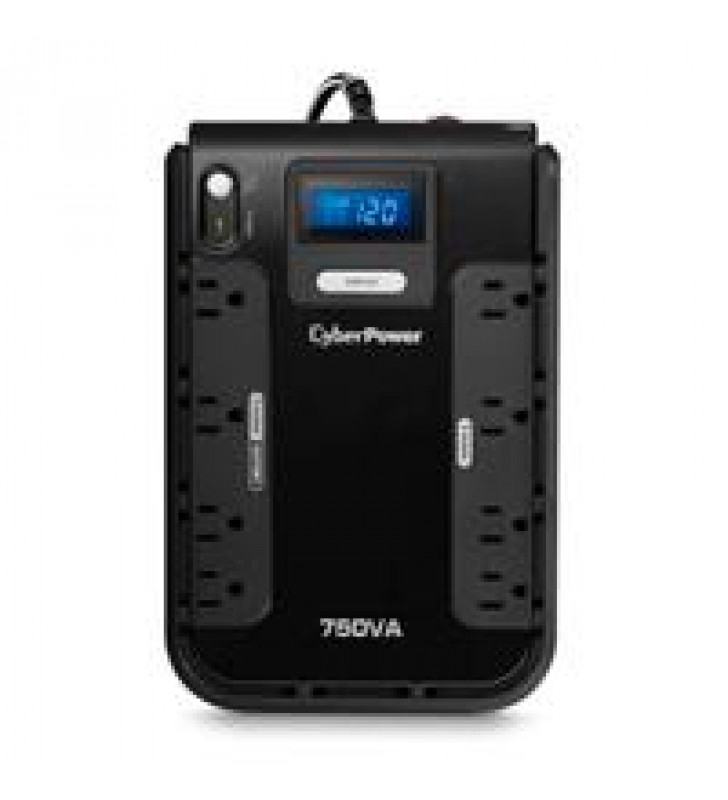 NO BREAK / UPS  CYBERPOWER LCD INTELIGENTE 750 VA 420 WATTS 3 ANOS DE GARANTIA EN PILA Y EQUIPO