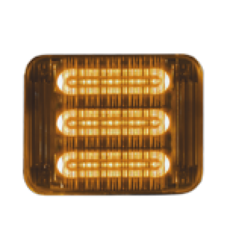 LUZ PERIMETRAL LED PRIZM  II DE 7X9, REF 8, LENTE DE COLOR AMBAR
