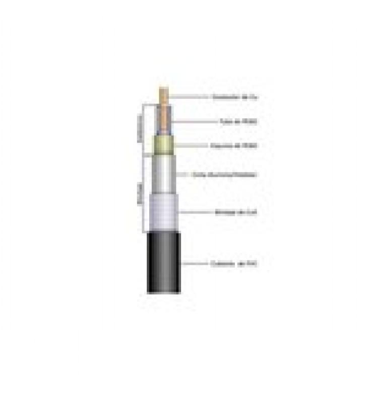 CABLE RG-214/U, BLINDAJE DOBLE MALLA DE COBRE CON BANO DE PLATA, 97%, 0.425, CD-4 GHZ, POLIETILENO.