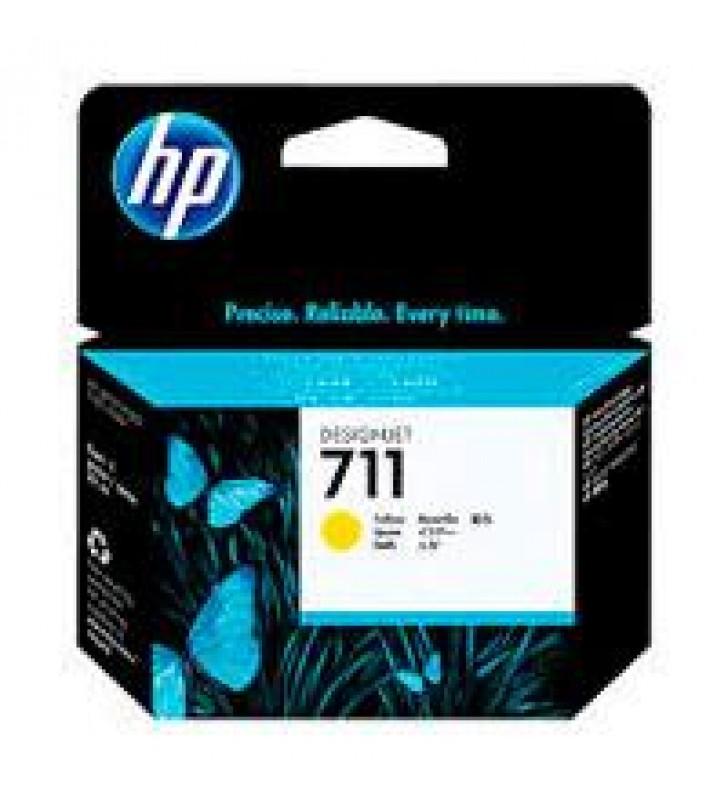 CARTUCHO DE TINTA P/PLOTTER HP 711 AMARILLO 29 ML CZ132A