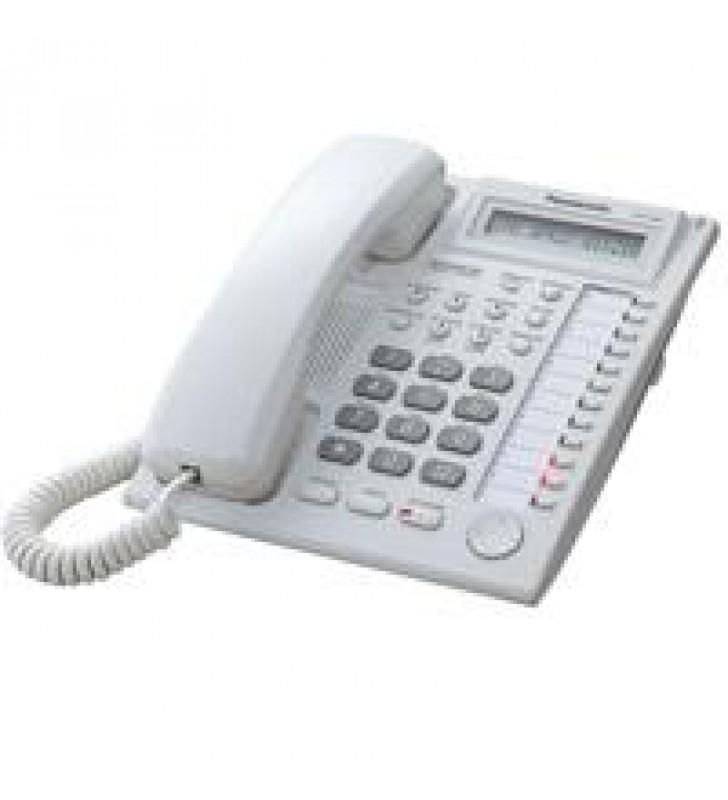 TELEFONO PANASONIC KX-AT7730 HIBRIDO CON PANTALLA DE 1 LINEA 12 TECLAS DSS Y ALTAVOZ BLANCO