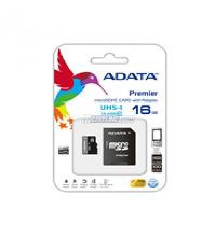 MEMORIA ADATA MICRO SDHC UHS-I 16GB CLASE 10 C/ADAPTADOR