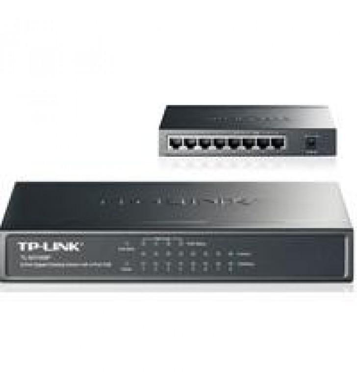 SWITCH TP-LINK TL-SG1008P 8 PUERTOS RJ45 GIGABIT 10/100/1000 NO ADMINISTRABLE CON 4 PUERTOS POE IEEE