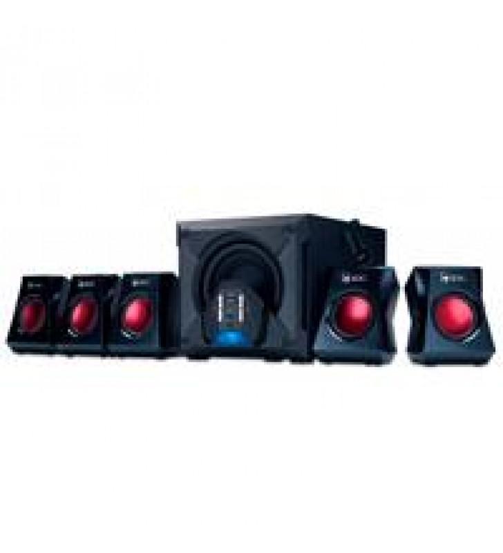 BOCINAS GENIUS SW-G5.1 3500 P/GAMERS CON SUBWOOFER 80W / CON CONTROL REMOTO NEGRO