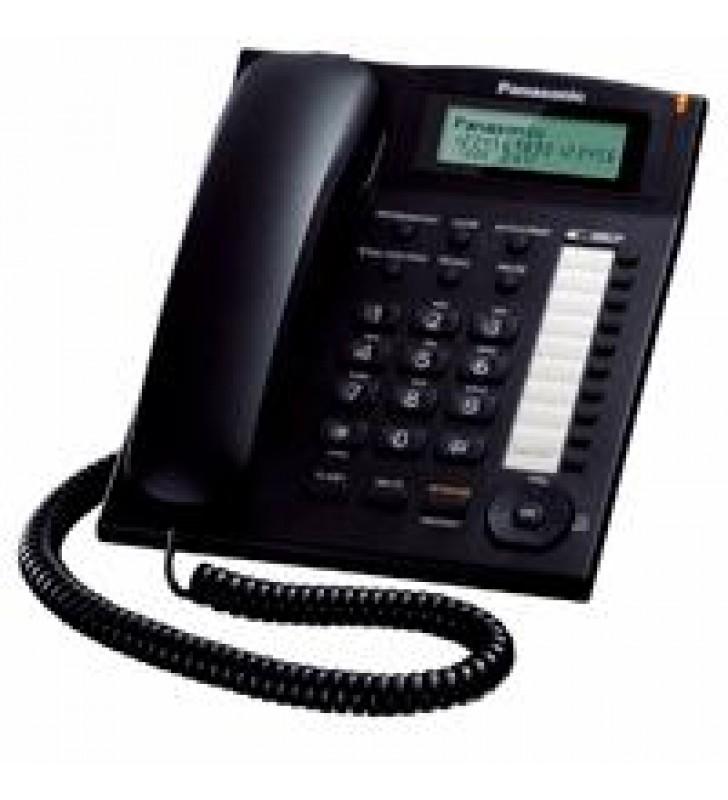TELEFONO PANASONIC KX-T7716 UNILINEA CON IDENTIFICADOR DE LLAMADAS Y BOTONES PROGRAMABLES (NEGRO)