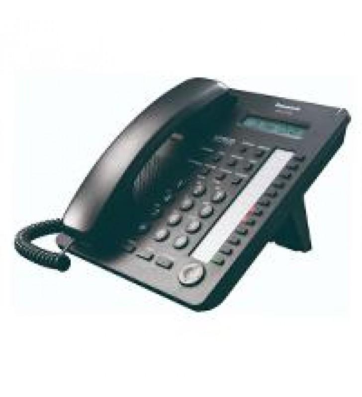 TELEFONO PANASONIC KX-AT7730 HIBRIDO CON PANTALLA DE 1 LINEA 12 TECLAS DSS Y ALTAVOZ NEGRO