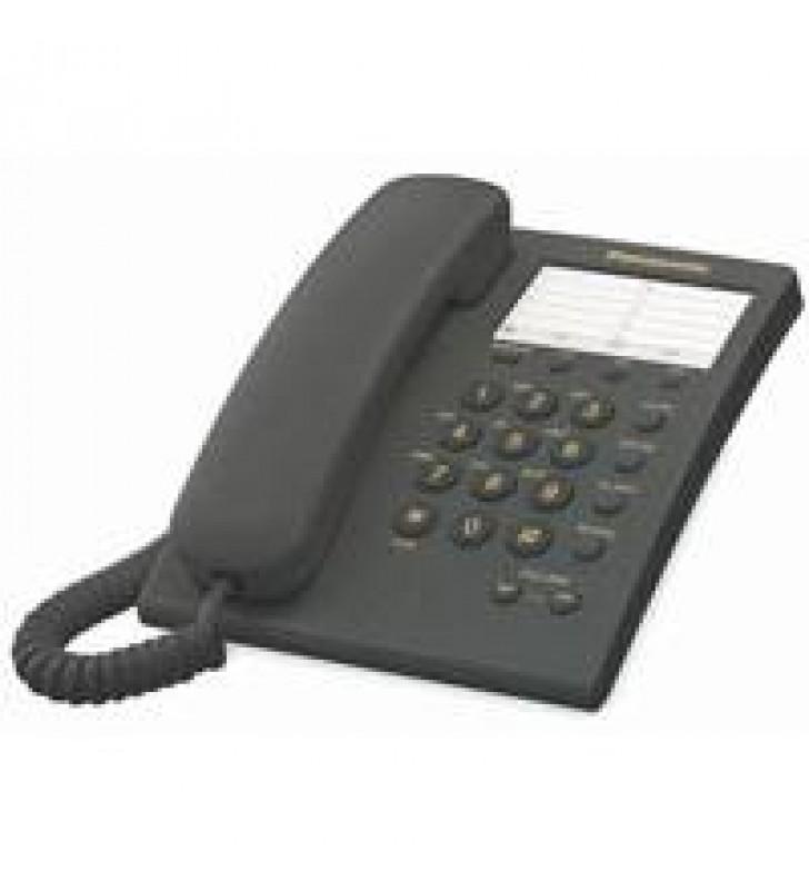 TELEFONO PANASONIC KX-TS550 ALAMBRICO BASICO UNILINEA CON 13 MEMORIAS (NEGRO)