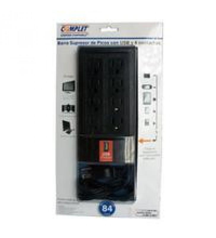 SUPRESOR DE PICOS COMPLET BCR-1-005 8 CONTACTOS CARGADOR USB 504 JOULES DE PROTECCION