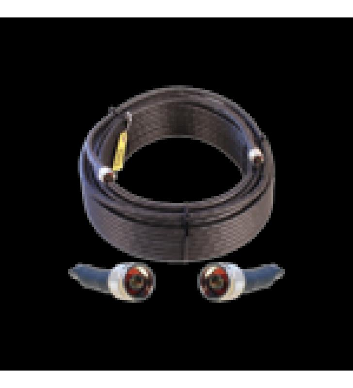 JUMPER COAXIAL CON CABLE WILSON-400 | CONECTOR N MACHO EN LOS EXTREMOS | 30.48 METROS DE LONGITUD.