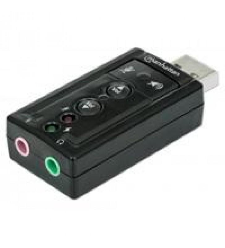 CONVERTIDOR MANHATTAN TARJETA SONIDO 7.1 USB A 3.5MM