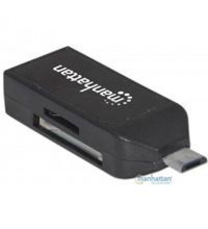 ADAPTADOR MANHATTAN OTG MICRO USB 2.0 A USB 2.0P/SMARTPHONES Y TABLET ANDROID 3.1 Y POSTERIORES CO