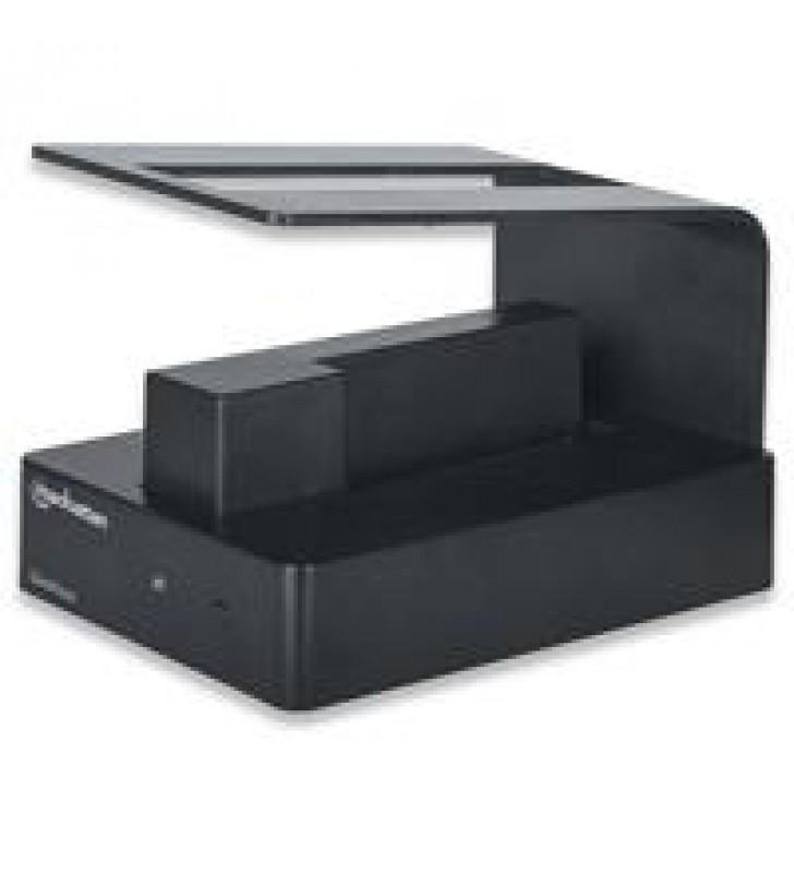 GABINETE MANHATTAN QUICK DOCK DUO USB DE SUPER VELOCIDAD 3.0 A SATA DUAL HDD DE 3.5 Y 2.5